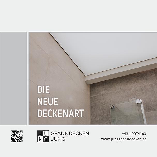 Die neue Deckenart - Spanndecken JUNG Broschüre 2021